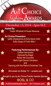 Avi Choice Fashion Awards Poster v6